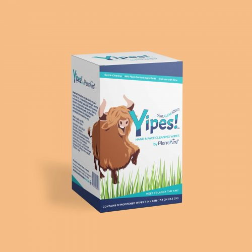 Yipes! Wipes Box 12 Count