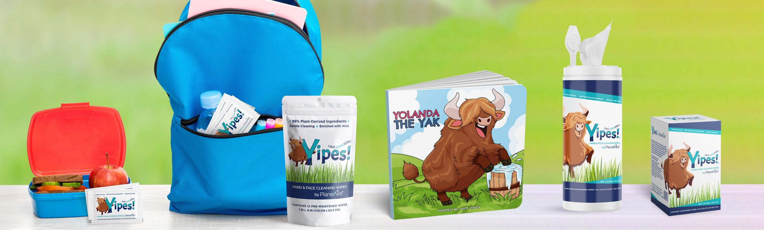 Yipes Hand and Face Wipes for Kids