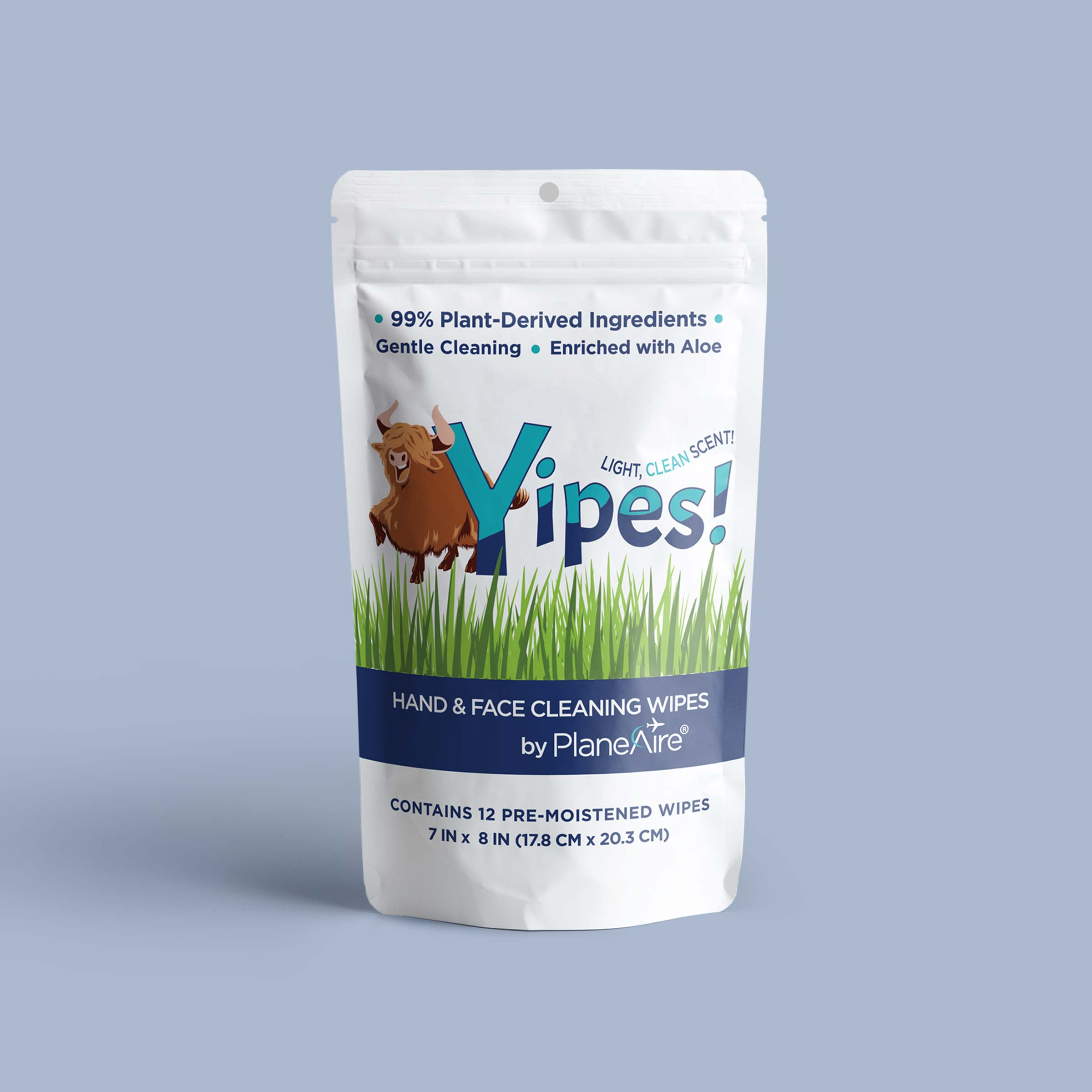 Yipes! Wipes Pouch 12 Count